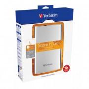 Verbatim 2,5\-os HDD 1TB Ezüst, USB 3.0 csatlakozás
