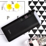 ER HOCO B27 PuSi Mobile Power Bank With Table Bank 15000mAh Dual USB Ports Universal External Power Backup-black