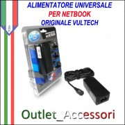 Alimentatore Caricabatterie Universale per Netbook Acer Asus Samsung Toshiba