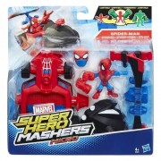 Avengers, Micro-figurina cu vehicul Super Hero Mashers - Spider-Man