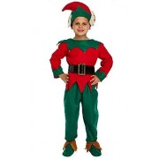 Fancy Me Kids Boys Girls 5 Piece Santas Helper Elf Christmas Fancy Dress Costume Outfit (7-9 Years) Green
