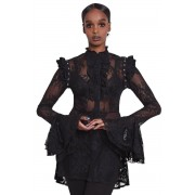 Ženska majica gotika i punk - She's Wicked Lace - KILLSTAR - KSRA001565
