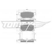 TOMEX brakes Pastillas De Freno & Juego De Pastillas De Freno HONDA TX 10-99 43022SR2030,43022SR3506,43022ST7A02 43022S04E02,43022S04E03,43022SH3G00
