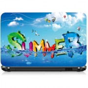 VI Collections Summer Text In Sea Printed Vinyl Laptop Decal 15.5