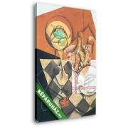 Juan Gris: Gyümölcs és kancsó (20x30 cm, Vászonkép )