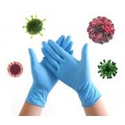 Nitrilové rukavice antibakteriální na denní použití - Modré