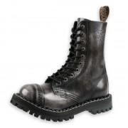 Boots STEEL Springerstiefel - 10 Loch grey (105/106 White)