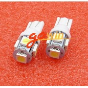 AST Works 20PCS T10 5050 W5W 5 SMD 12*30m 194 168 LED White Car Side Wedge Tail Light Lamp