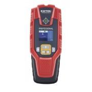 EXTOL PRÉMIUM digitális detektor, rejtett fém (vas, réz, alu) és fa tárgyak, illetve feszültség alatti vezeték keresésére, LCD kijelző