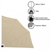 Сенник/Тента/Чадър за стенен монтаж [casa.pro]® , 160cm x 160cm , Бежов