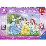 Ravensburger Disney Princess: Princesses in Garden and Castle - 2 x 12 Piece Puzzles in a Box