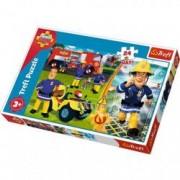 Puzzle Pompierul Sam 24 piese