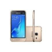 Smartphone Samsung Galaxy J1 Mini SM-J105B, 3G Quad Core 1.2GHz 8GB Câmera 5.0MP Tela 4.0, Dourado