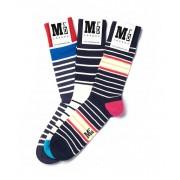 MrD London [3 Packs] Assorted Breton Stripe Socks B19-006
