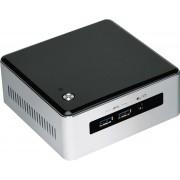Intel BLKNUC5I3MYHE BGA1168 2.1GHz i3-5010U UCFF Zwart, Zilver PC/workstation barebone