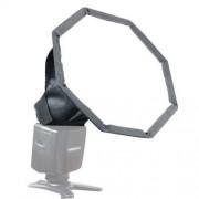 20cm Universal Octangle Style Flash Folding Soft Box Without Flash Light Holder(Black + White)