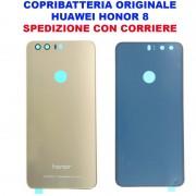 Copribatteria Originale Back Cover Huawei HONOR 8 GOLD ORO DORATA Scocca Vetro FRD L09 L19