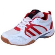 Zeefox 3300F-RED Badminton Shoes For Men(White)