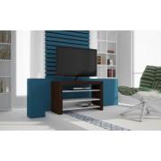 Tunas polcos TV szekrény (sötétbarna / fehér)