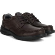 Clarks Keeler Walk Brown Leather Lace Up For Men(Brown)