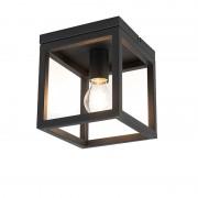 QAZQA Industrial ceiling lamp black - Cage 1