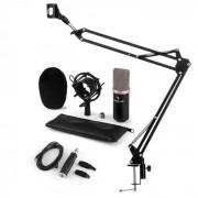 Auna CM003 Juego de micrófono V3 Micrófono de condensador Convertidor USB Brazo para micrófono negro (60001992-V3KO)