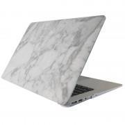 Apple MacBook Pro Retina 12 inch Marmer patroon bescherm Sticker voor Cover (wit grijs)