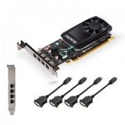 VC, PNY Quadro P1000 V2 LowProfile DVI, 4GB GDDR5, 128bit, PCI-E 3.0 (VCQP1000DVIV2-PB)