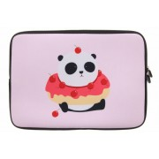 Universele Panda Cherry Donut design sleeve 15 inch