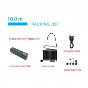 1200P HD Wireless WiFi Mini Endoscopio Inspección Semi-rígida Impermeable Cámara 8mm 8LED Lente Boroscopio Para IOS Y Android PC-negro