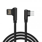 Micro USB kábel s 90° dizajnom konektora a dĺžkou 1 meter