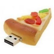 Microware Pizza Shape 16 GB Pen Drive(Yellow)