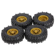 4pcs AUSTAR AX-4020F 1.9 inch 110mm RC Car Tires with Solid Hub For 1/10 Traxxas AXIAL TF2 RC Car