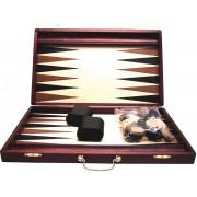 Backgammon Bruin koffer