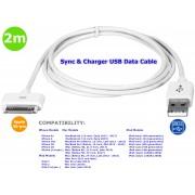 NTR CAB133WH Apple iPhone 2G 3G 4G USB adat szinkron és töltő kábel 2m - fehér