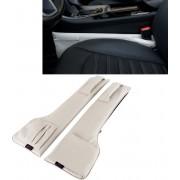Een paar Universele Autostoel Catcher Gap Console Filler Zitting Side Organizer Catcher Lekvrije Seat Crevice Opbergzakken (Grijs)-