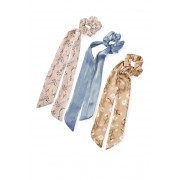 8 Other Reasons Floral Scarf Scrunchie - Pack of 3 NATURAL MULTI