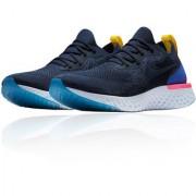 Niike Epic React Flyknit Blue Running Shoe
