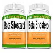 2 Bottles Beta Sitosterol 800mg Per Serving 180 Total Capsules Prostate Support KRK Supplements