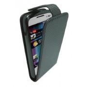 Omenex 685345 - Custodia a sportellino in similpelle, per smartphone Alcatel OT 991, colore: Nero