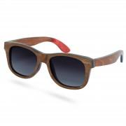 Paul Riley Polarisierte Skateboard Holz Sonnenbrille In Braun & Grau