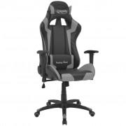 vidaXL szürke dönthető versenyautó ülés alakú műbőr irodai szék