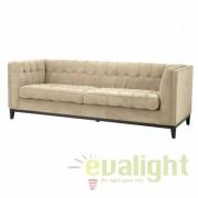 Canapea design modern, elegant cu tapiterie din catifea ALDGATE bej 110192 HZ