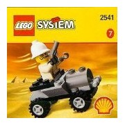 Shell Lego $7 2541 Jeep with Mini Figure and Weapons