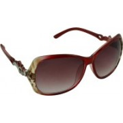 Rockford Over-sized Sunglasses(Red)