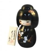 Japonská panenka Kokeshi Hanakanzachi Urushi 16 cm
