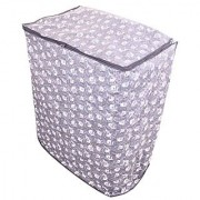 Glassiano Grey floral washing machine cover for semi automatic machine for Haier XPB72-714D 7.2 Kg Washing Machine
