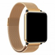 P1 1.3-inch IPS Color Screen Multi-functional Health Monitoring Sports Smart Wristbands - Gold/Metal Strap