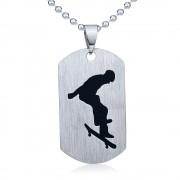 Silvego Ocelový přívěsek Skateboard - včetně řetízku 60cm - RRC0884-SK
