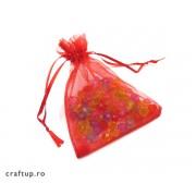 Săculeți organza dreptunghiulari 7x9cm (100 buc)